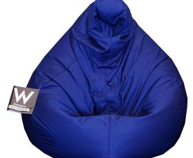 Adult Pear XL Beanbag, Coated fabric, Indigo, Water Resistant, Removable cover